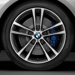 BMW Alufelge M Doppelspeiche 598 9J x 19 ET 42 Bicolor (Orbitgrey / glanzgedreht) Hinterachse BMW 3er F34 GT