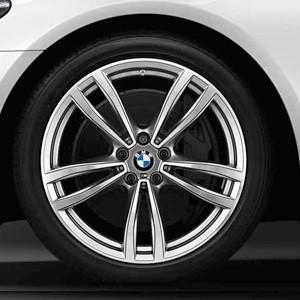BMW Winterkompletträder M Doppelspeiche 647 bicolor (ferricgrey / glanzgedreht) 19 Zoll 7er G11 G12 RDCi