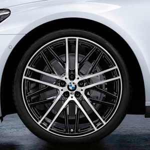 BMW Kompletträder M Doppelspeiche 650 (schwarz glänzend / glanzgedreht) 21 Zoll 7er G11 G12 RDCi