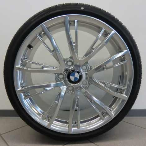 BMW Kompletträder M Performance Doppelspeiche 624 voll poliert 20 Zoll 3er F30 F31 4er F32 F33 F36 RDCi