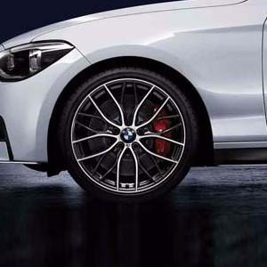 BMW Kompletträder M Performance Doppelspeiche 405 bicolor (orbitgrey / glanzgedreht) 19 Zoll 1er F20 F21 2er F22 F23
