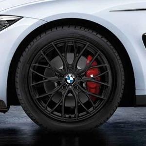 BMW Kompletträder M Performance Doppelspeiche 405 schwarz matt 18 Zoll 3er F30 F31 4er F32 F33 F36