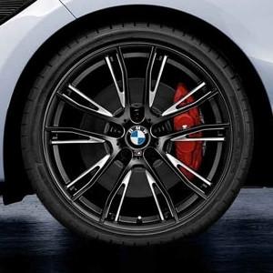 BMW Alufelge M Performance Doppelspeiche 624 8 J x 19 ET 52 schwarz/silber Hinterachse 1er F20 F21 2er F22 F23