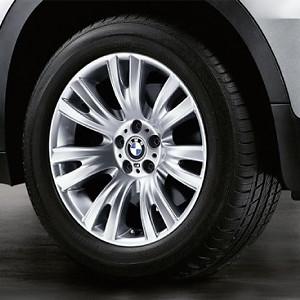 BMW Alufelge M V-Speiche 223 10J x 19 ET 20 Silber Hinterachse BMW X5 E70