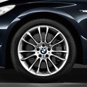 BMW Kompletträder M V-Speiche 302 silber 19 Zoll 5er F07 7er F01 F02 F04 mit Mischbereifung