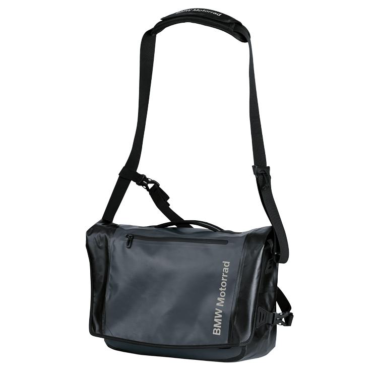 BMW Messenger Bag, schwarz/anthrazit, ca. 12 l.