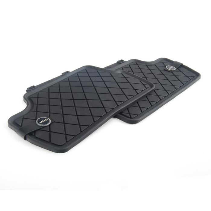 MINI Satz Gummimatten Essential Black hinten für F55