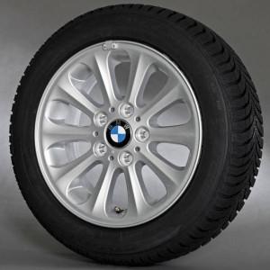 BMW Alufelge Radialspeiche 139 6,5J x 16 ET 42 Silber Vorderachse / Hinterachse BMW 1er E81 E82 E87 E88