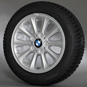 BMW Winterkompletträder Radialspeiche 139 silber 16 Zoll 1er E81 E82 E87 E88