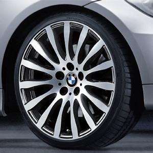 BMW Alufelge Radialspeiche 190 8J x 19 ET 37 Bicolor (Orbitgrey / glanzgedreht) Vorderachse BMW 3er E90 E91 E92 E93