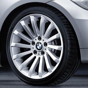 BMW Alufelge Radialspeiche 196 8J x 18 ET 34 Silber Vorderachse BMW 3er E90 E91 E92 E93