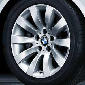 BMW Alufelge Radialspeiche 244 silber 7,5J x 17 ET 20 Vorderachse / Hinterachse 5er E60 E61