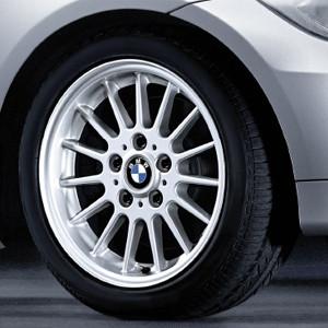 BMW Alufelge Radialspeiche 32 7J x 16 ET 34 Silber Vorderachse / Hinterachse BMW 3er E90 E91 E92 E93