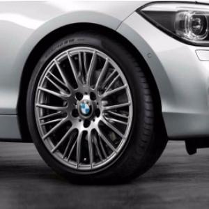 BMW Kompletträder Radialspeiche 388 ferricgrey 18 Zoll 1er F20 F21 2er F22 F23 RDCi