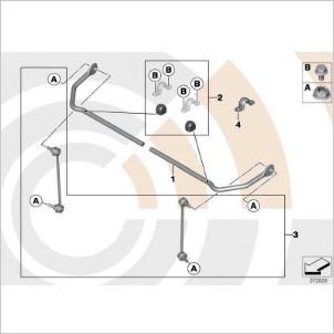 MINI Reparatursatz Gummilager Stabilisator hinten R50 R52 R53 R55 R56 R57 R58 R59