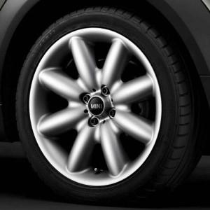 MINI Kompletträder Star Spoke R85 silber 17 Zoll MINI R50 R52 R53 R55 R56 R57 R58 R59