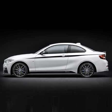 BMW M Performance Akzentstreifen schwarz/silber 1er F21 2er F22 F23