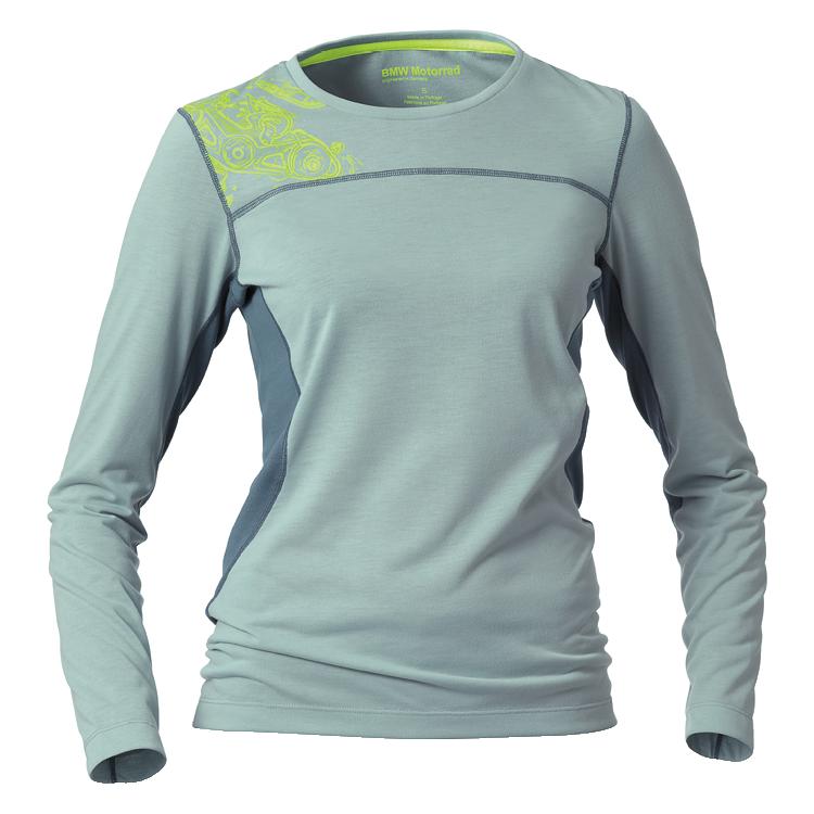 BMW Shirt Ride für Damen, aqua/neongelb