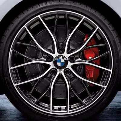 BMW 17 / 18 Zoll M Leichtbau Sportbremsscheibe Hinterachse angelocht und genutet 1er F20 F21 2er F22 F23 3er F30 F31 F34GT 4er F32 F36