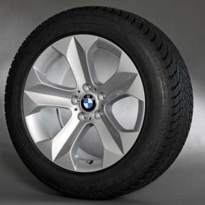 BMW Winterkompletträder Sternspeiche 232 silber 19 Zoll X6 E71