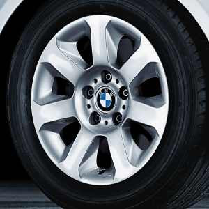 BMW Alufelge Sternspeiche 115 silber 7J x 16 ET 20 Vorderachse / Hinterachse 5er E60 E61