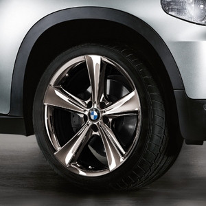 BMW Kompletträder Sternspeiche 128 midnight chrom 21 Zoll X6 E71