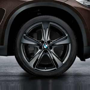 BMW Kompletträder Sternspeiche 128 liquid black 21 Zoll X5 E70 F15 X6 F16