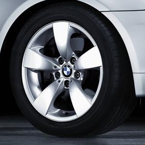BMW Alufelge Sternspeiche 138 silber 7,5J x 17 ET 20 Vorderachse / Hinterachse 5er E60 E61 ohne xDrive