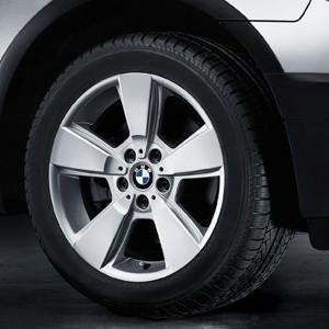 BMW Kompletträder Sternspeiche 143 silber 17 Zoll X3 E83