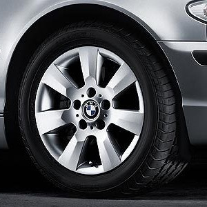 BMW Alufelge Sternspeiche 169 silber 7J x 16 ET 47 Vorderachse/Hinterachse BMW 3er E46