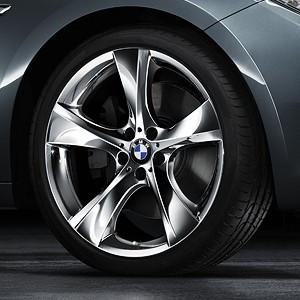 BMW Alufelge Sternspeiche 311 8,5J x 21 ET 25 Chrom Vorderachse BMW 7er F01 F02 F04 5er F07