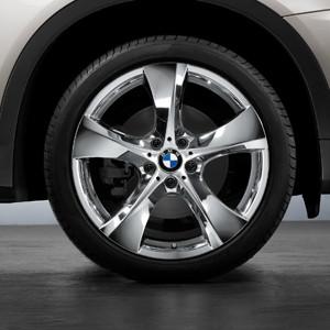 BMW Alufelge Sternspeiche 311 8,5J x 18 ET 52 Chrom Vorderachse BMW 1er E81 E82 E87 E88