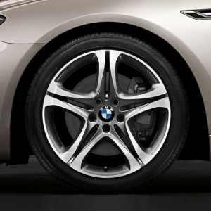 BMW Winterkompletträder Sternspeiche 367 silber glanzgedreht 19 Zoll 5er F11