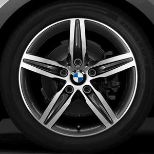 BMW Winterkompletträder Sternspeiche 379 17 Zoll bicolor (orbitgrey/glanzgedreht) 1er F20 F21 2er F22 F23