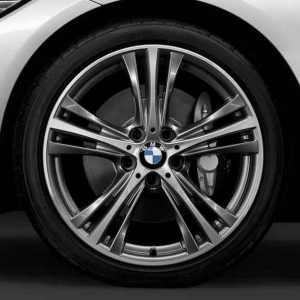 BMW Alufelge Sternspeiche 407 bicolor (ferricgrey/glanzgedreht) 8,5J x 19 ET 47 Hinterachse 3er F30 F31 4er F32 F33 F36