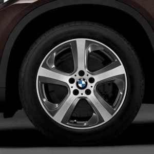 BMW Alufelge Sternspeiche 490 bicolor (orbitgrey/glanzgedreht) 9J x 19 ET 48 Vorderachse / Hinterachse links X5 F15 X6 F16