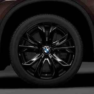 BMW Alufelge Sternspeiche 491 hochglanz-schwarz/glanzgedreht 11J x 20 ET 37 Hinterachse X5 F15 X6 F16