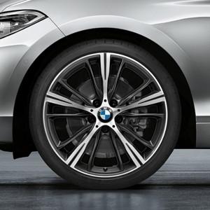BMW Alufelge Sternspeiche 660 bicolor (orbitgrau/glanzgedreht) 7,5J x 19 ET 45 Vorderachse BMW 1er F20 F21 2er F22 F23
