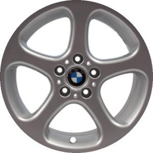 BMW Alufelge Sternspeiche 69 8,5J x 18 ET 48 Silber Vorderachse / Hinterachse BMW X5 E53