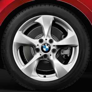 BMW Alufelge Streamline 370 silber 7,5J x 17 ET 47 Hinterachse (linke Fahrzeugseite) 1er E81 E82 E87 E88