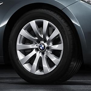 BMW Alufelge Turbinen-Styling 271 8J x 18 ET 30 Silber Vorderachse / Hinterachse BMW 7er F01 F02 5er F07