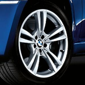 BMW Alufelge M V-Speiche 299 10J x 20 ET 40 Silber Vorderachse BMW X5 E70 X6 E71 (nur für X5M und X6M)