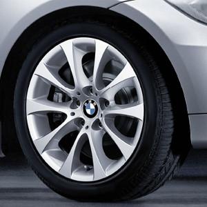 BMW Alufelge V-Speiche 188 8,5J x 17 ET 37 Silber Hinterachse BMW 3er E90 E91 E92 E93