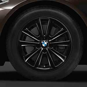 BMW Winterkompletträder V-Speiche 236 schwarz 17 Zoll 5er F10 F11 6er F06 F12 F13 RDC LC