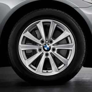 BMW Kompletträder V-Speiche 236 17 Zoll Silber 5er F10 F11 F18 6er F06 F12 F13