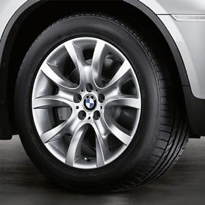 BMW Alufelge V-Speiche 257 9J x 19 ET 18 Silber Hinterachse BMW X6 E71 E72