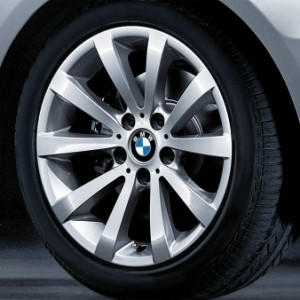 BMW Kompletträder V-Speiche 285 silber 17 Zoll 3er E90 E91 E92 E93