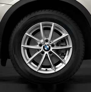 BMW Winterkompletträder V-Speiche 304 silber 17 Zoll X3 F25 X4 F26