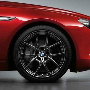 BMW Kompletträder V-Speiche 356 liquid black 20 Zoll 5er F10 F11 6er F06 F12 F13 RDC LC