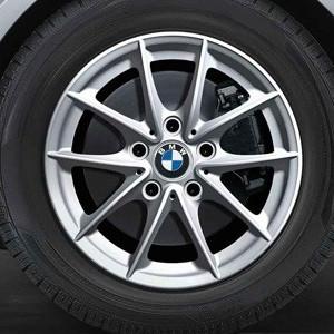 BMW Alufelge V-Speiche 360 7J x 16 ET 44 Silber Vorderachse / Hinterachse BMW 1er E81 E82 E87 E88